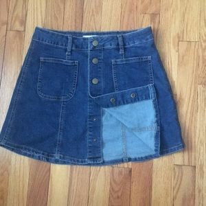 Super cute and comfy button up jean skirt